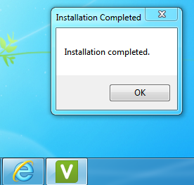 Installation complete message.