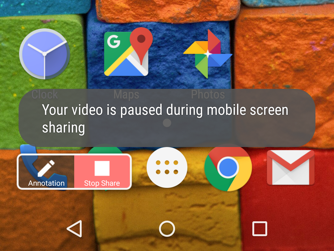 Screenshare start on Android phone